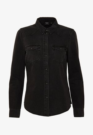 VMMARIA SLIM  - Button-down blouse - black