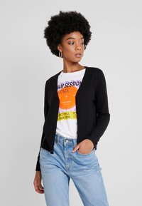Vero Moda - VMHAPPY BASIC V NECK CARDIGAN - Cardigan - black - 0