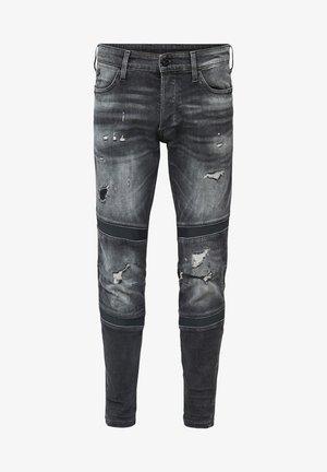 MOTAC 3D SLIM  - Slim fit jeans - vintage ripped basalt