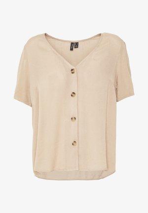 VMATHEN VNECK - Camisa - beige