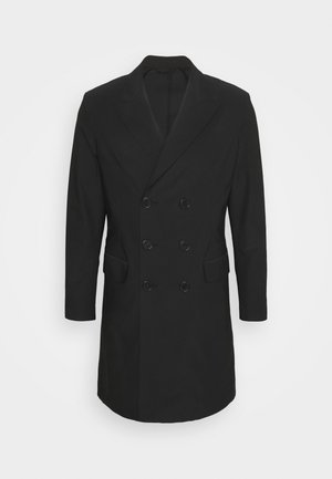 TRAVEL DOUBLE BREASTED COAT - Classic coat - black