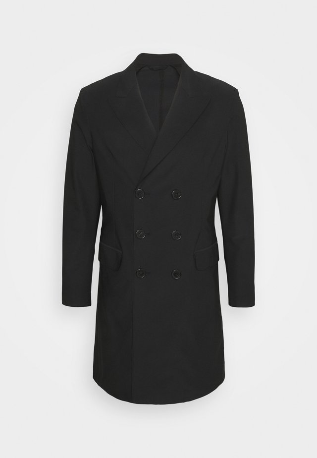 TRAVEL DOUBLE BREASTED COAT - Mantel - black