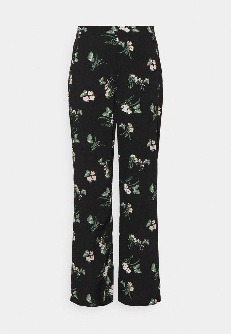 Vero Moda - VMSIMPLY EASY WIDE PANT - Bukse - black