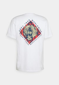 Obey Clothing - OBEY DISSENT & CHAOS TIGER - Printtipaita - white - 1