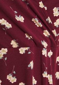 Simply Be - WRAP SKATER DRESS - Sukienka z dżerseju - red - 2