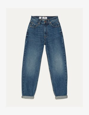 MOM - Jeansy Straight Leg - dark blue