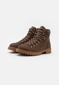 Lumberjack - RIVER - Lace-up ankle boots - cotto/dark brown - 1