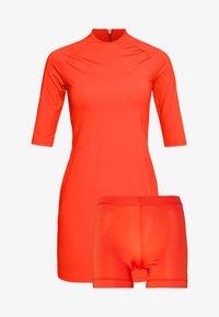 J.LINDEBERG - SAHRA LUX SCULPT - Sportovní šaty - tomato red - 4