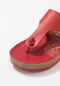 Panama Jack - QUINOA NACAR - Sandály s odděleným palcem - rot - 2