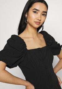 Fashion Union - BIATRRITZ MIDI DRESS - Day dress - black - 3