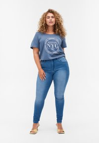 Zizzi - Print T-shirt - blue - 1