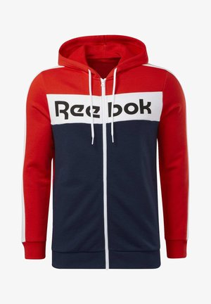 TRAINING ESSENTIALS LOGO HOODIE - Huvtröja med dragkedja - red