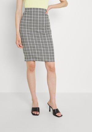 VIHOUNDI PENCIL SKIRT - Pouzdrová sukně - black/white