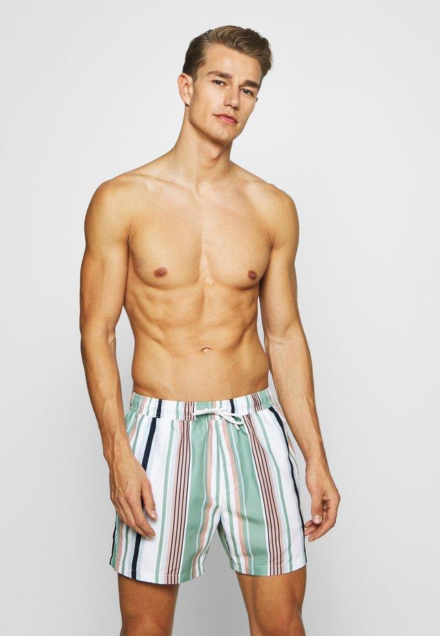 STRIPE - Shorts da mare - white
