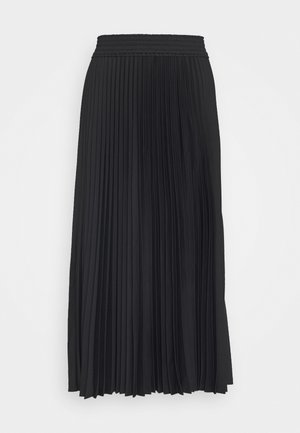 PRINTED PLEATED LONG SKIRT - A-line skjørt - black