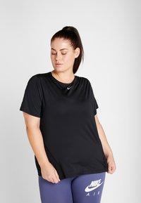 Nike Performance - ALL OVER PLUS - Basic T-shirt - black/white - 0
