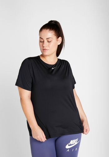 ALL OVER PLUS - T-shirts - black/white