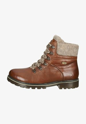 Lace-up ankle boots - chestnut wood