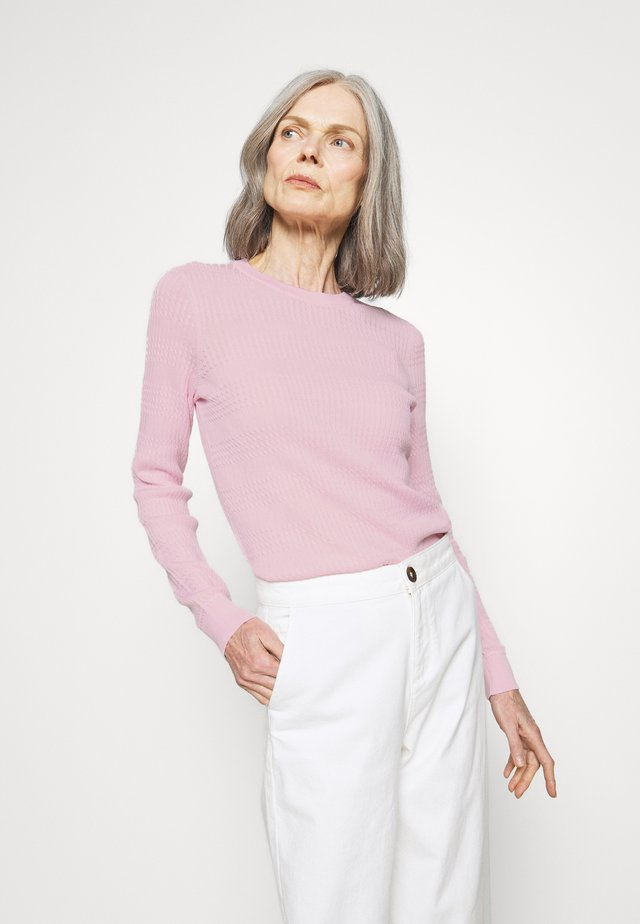 ESSENTIAL CABLE - Sweter - frosted pink