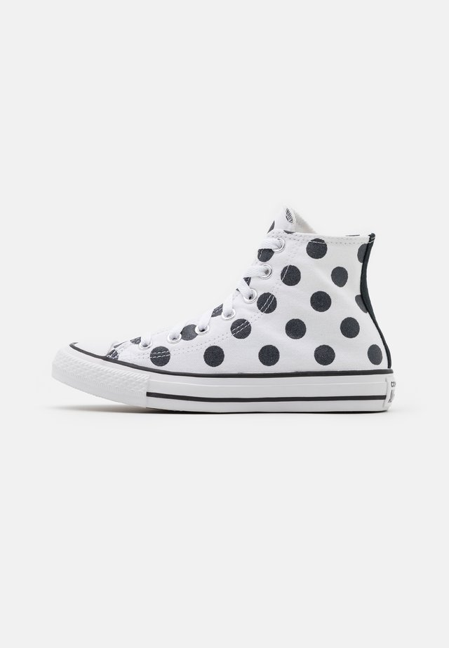 CHUCK TAYLOR ALL STAR POLKA DOT GLITTER - High-top trainers - white/black