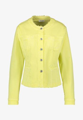 MIT FRANSENKANTE - Denim jacket - light lime