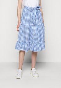 Polo Ralph Lauren - GINGHAM - A-line skirt - medium blue - 0