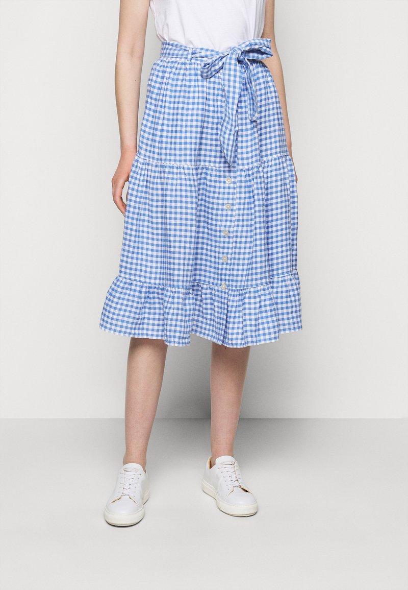 Polo Ralph Lauren - GINGHAM - A-line skirt - medium blue