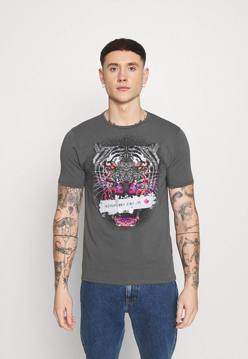 Alessandro Zavetti - SAVAGE TEE - T-shirt imprimé - grey