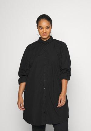 VMEWA LONG - Button-down blouse - black