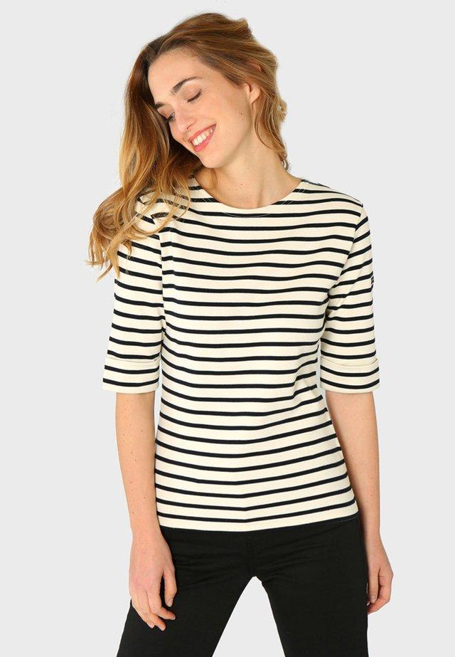 CANCALE - MARINIÈRE - T-SHIRT - T-shirt imprimé - nature rich navy