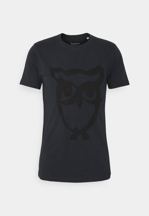 ALDER BRUSED OWL TEE - Printtipaita - total eclipse
