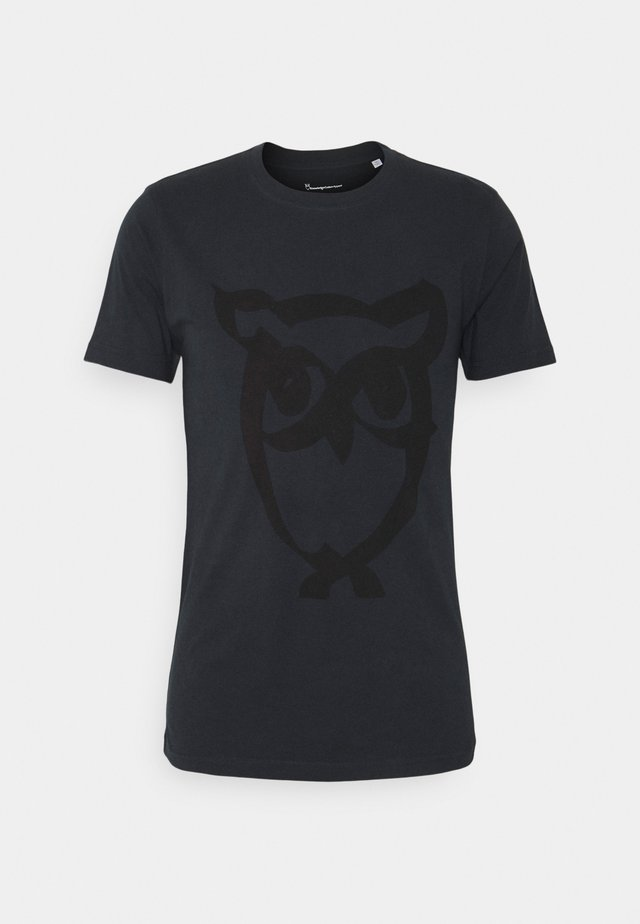 ALDER BRUSED OWL TEE - T-shirt imprimé - total eclipse