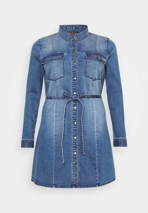 CARNETTE LIFE BELT TUNIC DRESS - Denim dress - medium blue denim