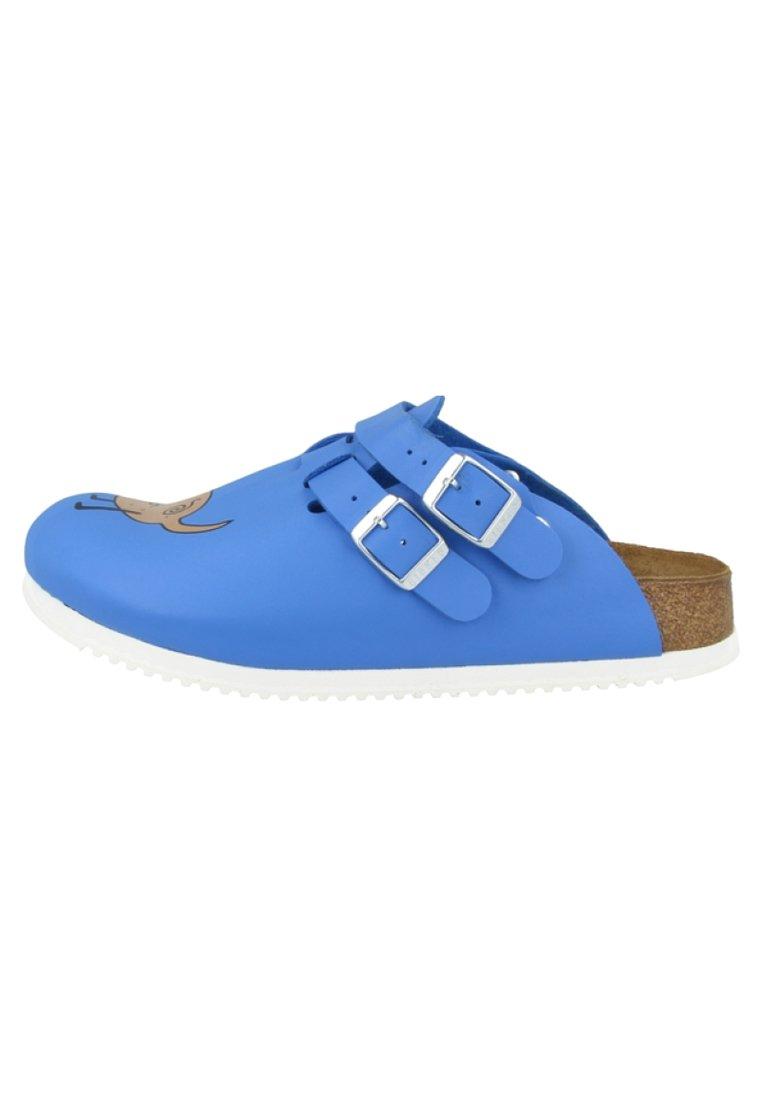 Herren Pantolette flach -  blue