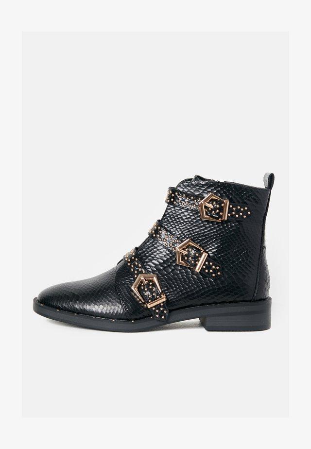 EFFET PYTHON - Boots à talons - black