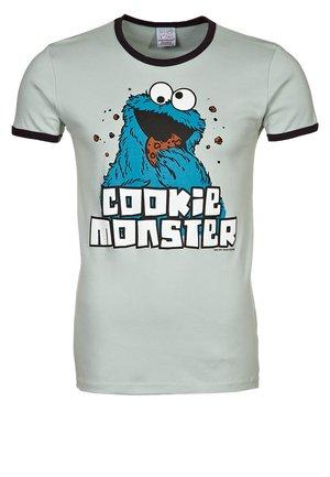 COOKIE MONSTER - Print T-shirt - chalk blue/deep navy