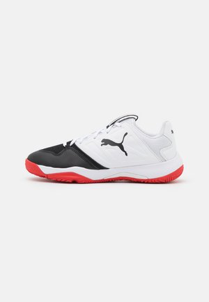 ACCELERATE TURBO JR UNISEX - Handball shoes - white/black/high risk red