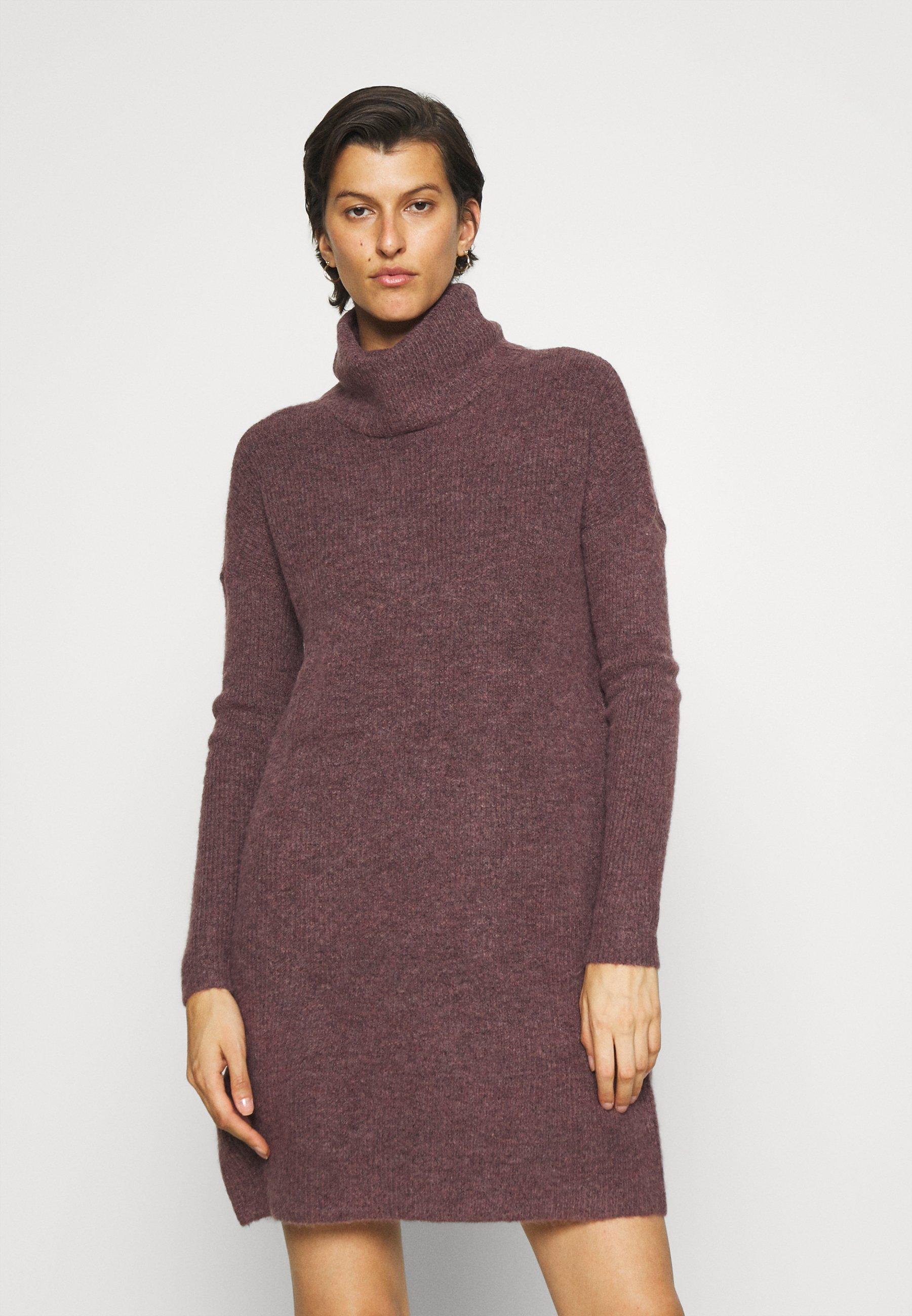 Femme ONLJANA COWLNECK DRESS  - Robe pull