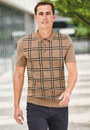CHECK - Polo shirt - brown