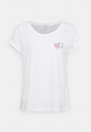 VALENTINE - Print T-shirt - white