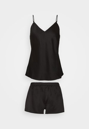 SIMPLE  SHORT SET - Pyjamas - black