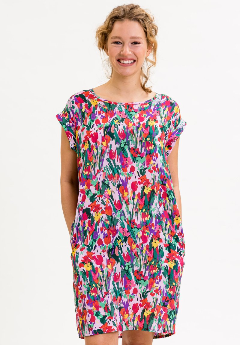 UVR Berlin - ANNABELLINA - Jersey dress - bunt  floraler print