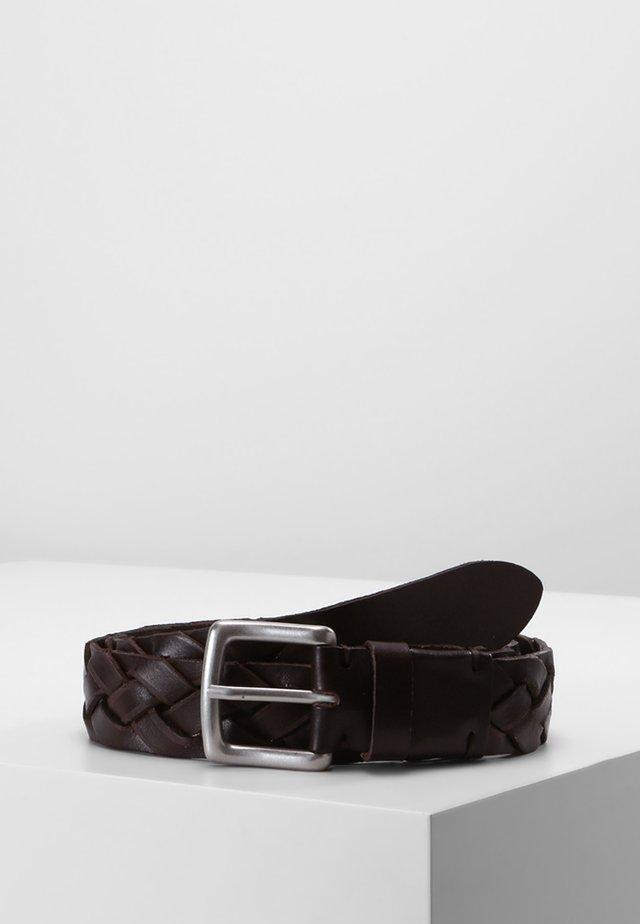 BELT GENTS - Braided belt - brown