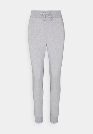 Lightweight slim fit joggers - Tracksuit bottoms - mottled light grey
