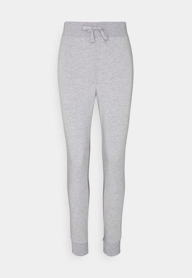 Lightweight slim fit joggers - Tracksuit bottoms - mottled light grey