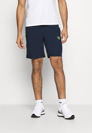 CLUB TECH  - Pantalón corto de deporte - navy/yellowfluo