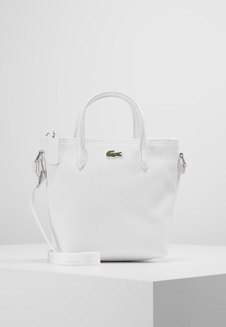 Lacoste - SHOPPING CROSS BAG - Handbag - bright white