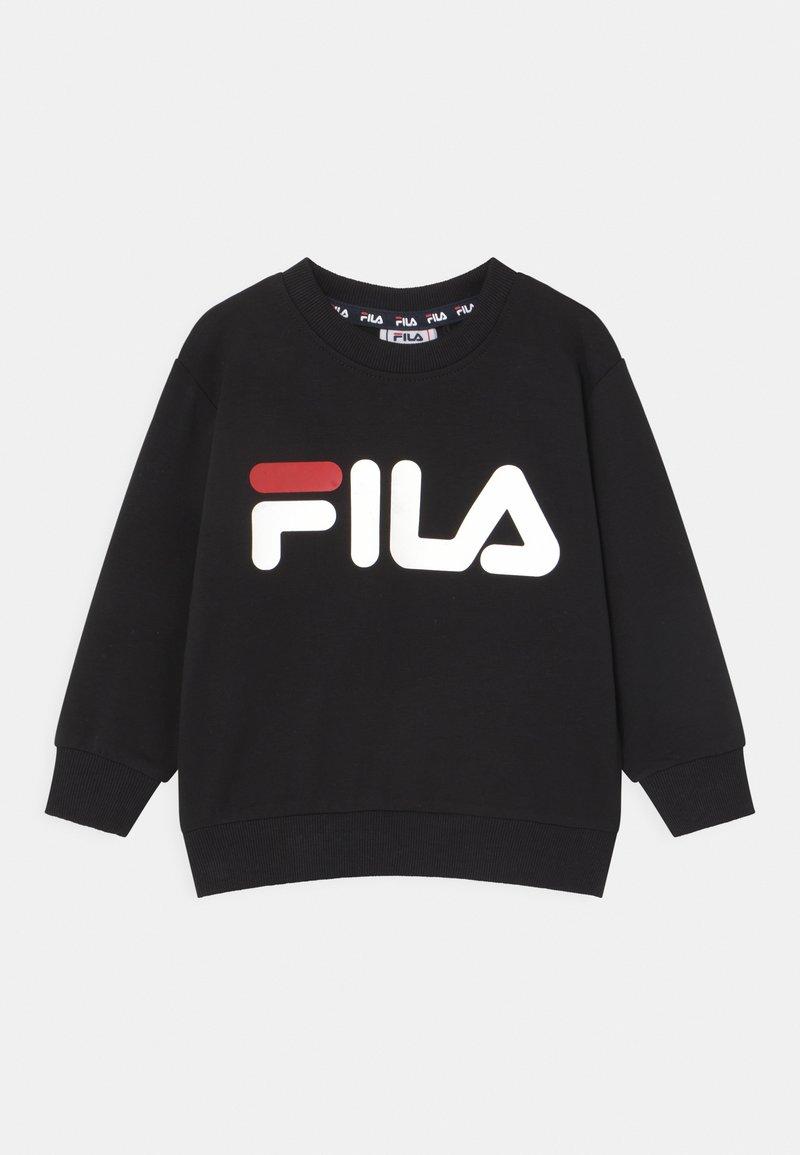 Fila - TIM LOGO CREW UNISEX - Sweatshirt - black