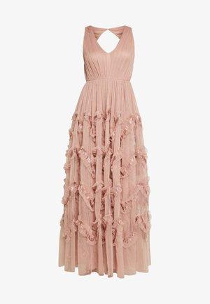 KEY HOLE BACK MAXI DRESS - Společenské šaty - pearl blush