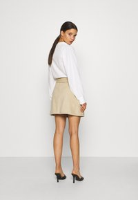 Glamorous Petite - BELTED MINI SKIRT WITH POCKET DETAIL - Pencil skirt - stone corduroy - 2